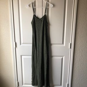 Forest green & black striped Mossimo maxi dress